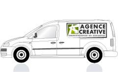 Décoration sur véhicule, vitrine, autocollant, lettrage